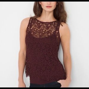 WHBM size medium lace top
